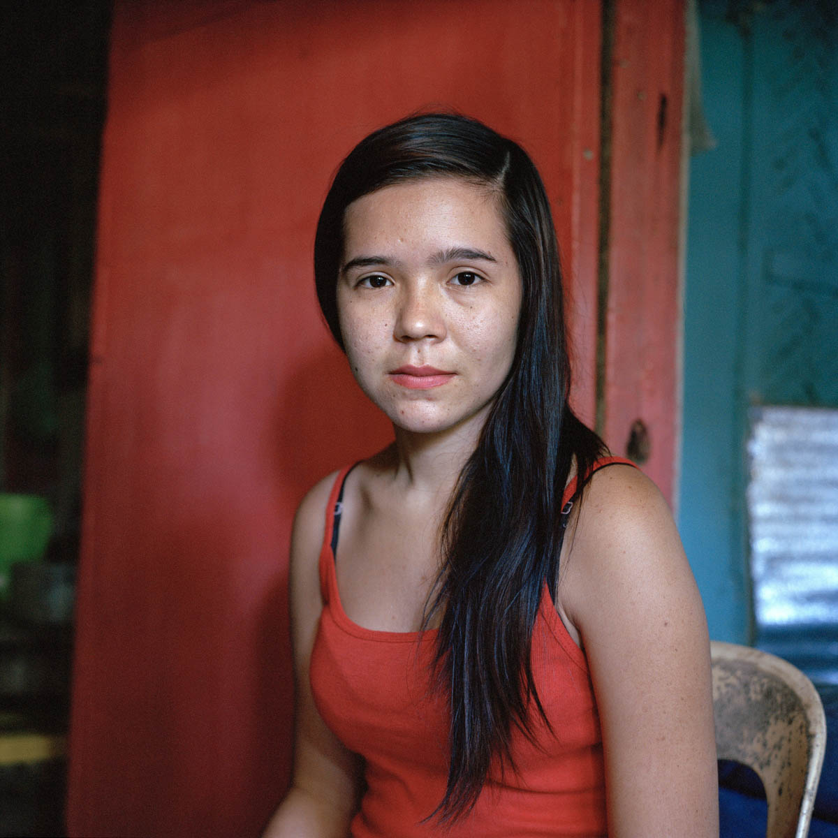 "Mary Grace - Mary Grace, 16 years old. She never met her father, a Swiss citizen, but knows his name. Mary used to have a picture of him, but the humid climate destroyed the print. She grew up with her aunt. Angeles City, Philippines, August 2014. - Copyright © © S. Borcard - N. Metraux - Angeles - Central Luzon - Philippines - <A href=""https://maps.google.com/?ll=15.168055,120.586388&z=16"" target=""_blank"">(Map Mary Grace)</A>"