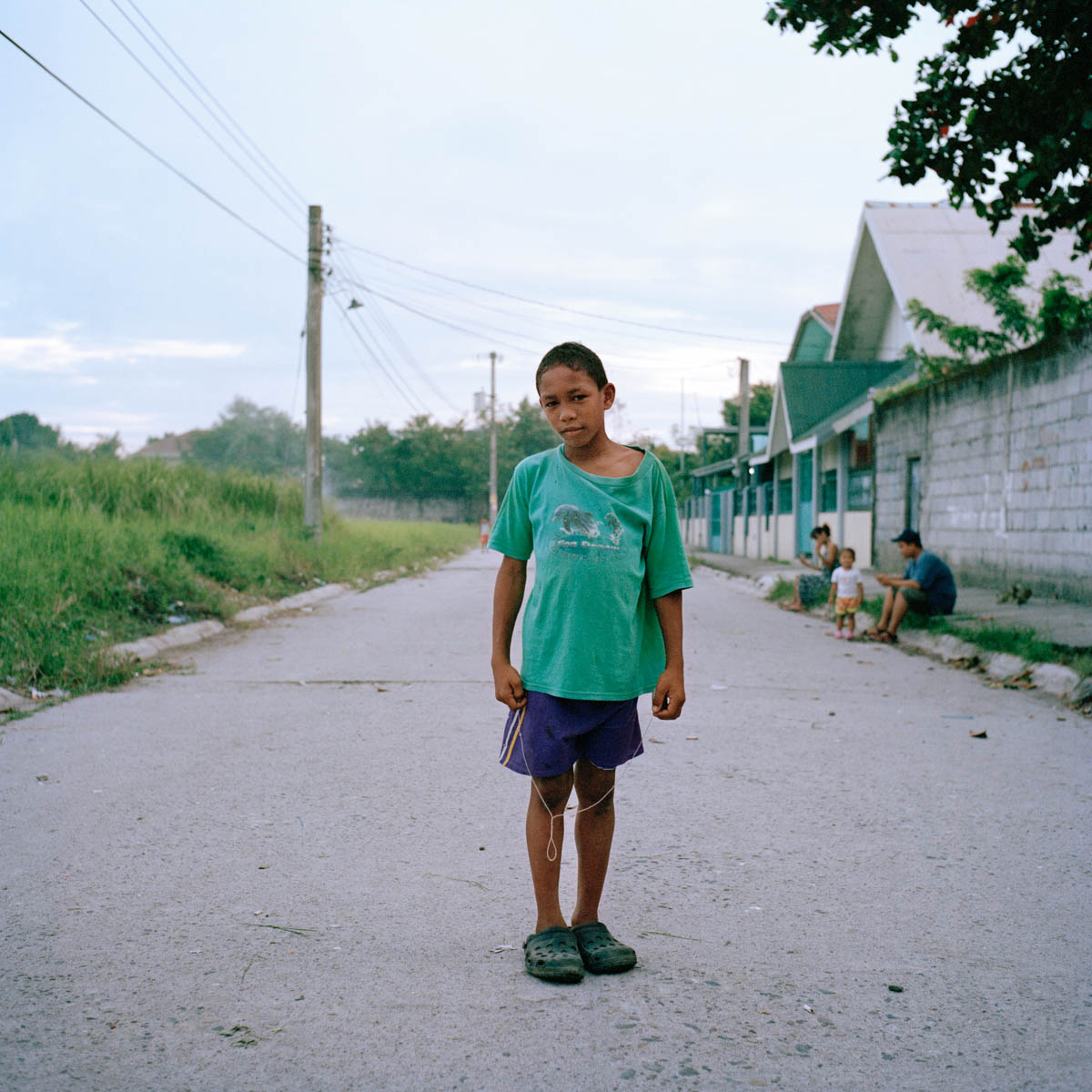 "Christian Jayson - Christian Jayson,11, in the barangay of Ipil-Ipil, a popular neighbourhood of Angeles City. His father is American. Angeles City, Philippines, August 2014. - Copyright © © S. Borcard - N. Metraux - Angeles - Central Luzon - Philippines - <A href=""https://maps.google.com/?ll=15.168055,120.586388&z=16"" target=""_blank"">(Map Christian Jayson)</A>"