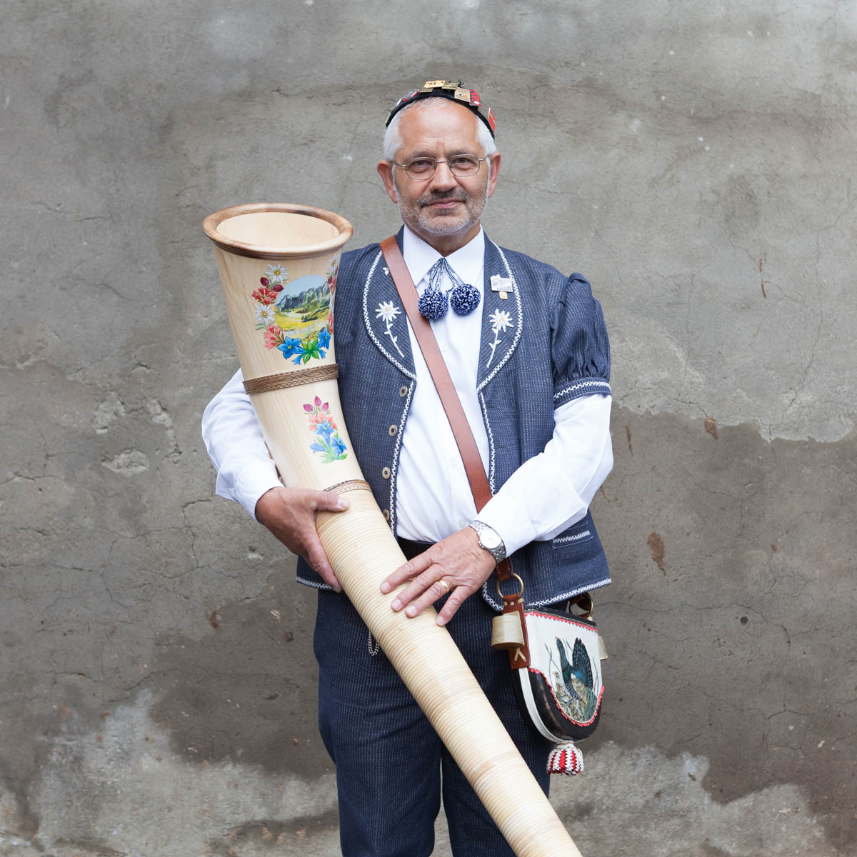 "Paul Feyer 2nd Tenor - Paul Feyer, 64, 2nd tenor and renowned  Alphorn player. He is an active member of the Jodlerklub ""Alphüttli"" since 1970.  Plaffeien, June, 2012. - Copyright © © S. Borcard - N. Metraux - Planfayon / Plaffeien - Fribourg - Switzerland - <A href=""https://maps.google.com/?ll=46.741653,7.287395&z=16"" target=""_blank"">(Map Paul Feyer 2nd Tenor)</A>"